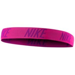 NWT! Nike Logo Racer Pink Headband ONE SIZE